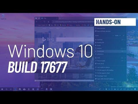 Windows 10 build 17677: Microsoft Edge, Sets, Timeline, File Explorer, more