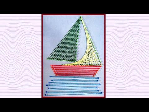 String Art Designs - String Art Boat Making by Sonia Goyal
