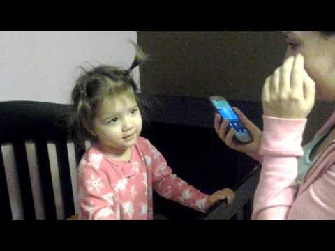 Dora birthday phone call!