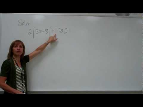 Solving an Absolute Value Inequality (2)