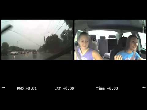 Terrifying video shows how distracted teens can be while driving