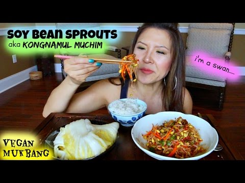 SOYBEAN SPROUT SIDE DISH • Mukbang & Recipe
