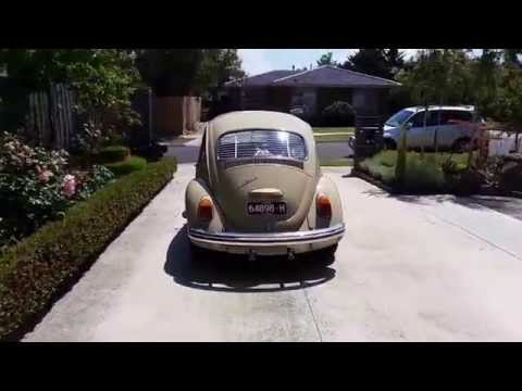 1969 VW Beetle first run after resto