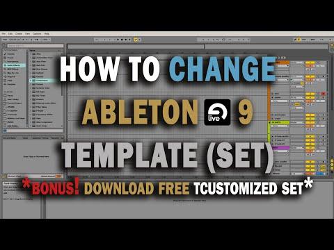 How To Change Ableton Live 9 Default Template (Set) Tutorial + FREE Custom Set Download
