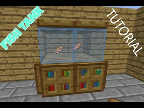 Minecraft PE : How to make a Fish Tank