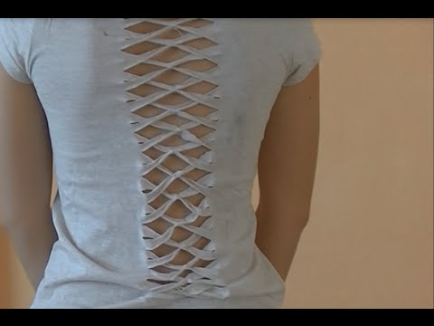 DIY: cut-out crossover back T-shirt