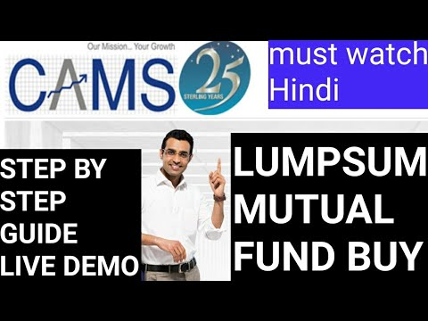Buy Lumpsum Mutual funds from cams/camsonline | LIVE DEMO Step by Step - in hindi in Depth