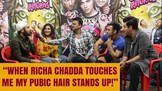 "Fukrey Returns Actor Manjot Singh says ""When Richa Chadda touches me my pubic hair stands up!"""