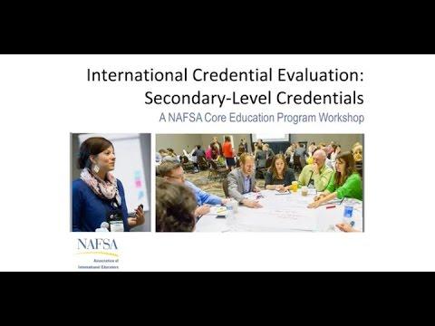 International Credential Evaluation Secondary Level Credentials