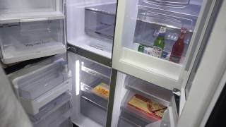 LG smart refrigerator Alexa, Windows 10, knock knock see indise, cameras