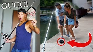 THE GUCCI BAIT PRANK! (GUCCI ON FISHING POLE)