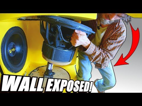 EXPOSING The Subwoofer REMOVAL PROCESS w/ EXO's Biggest Car Audio TEARDOWN Ever