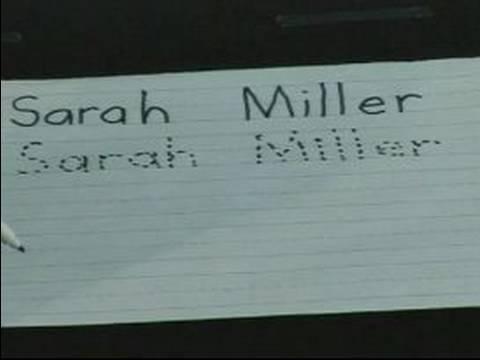 Home School Tutoring : Teaching Kids to Write Their Name