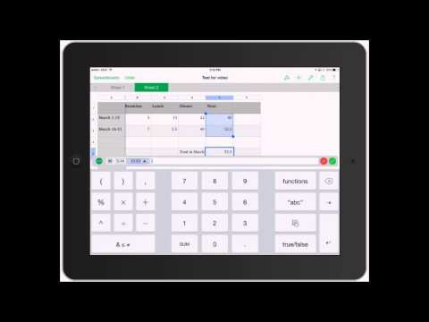 Numbers for iPad: Spreadsheet Functions and Formulas on iPad