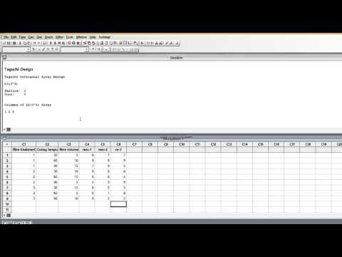 Design of experiments by Taguchi method in minitab