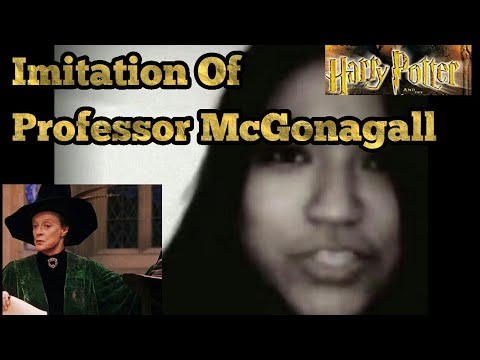 Impression   Professor Mcgonagall    Harry Potter