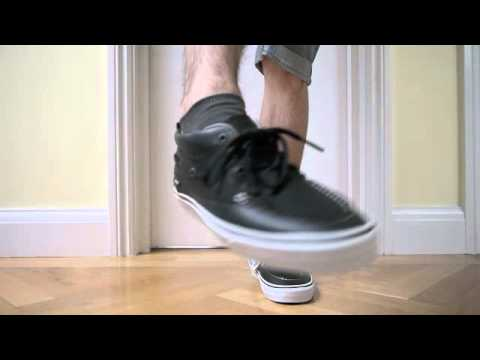 34c72a7b0a7c62 Requested Video  Vans Chukka Del Barco. Black leather mid top. On feet  review