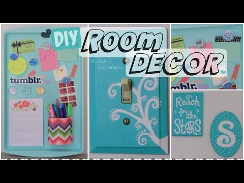 DIY ROOM DECOR // Wall Art & Magnetic Memo Board - How To | SoCraftastic
