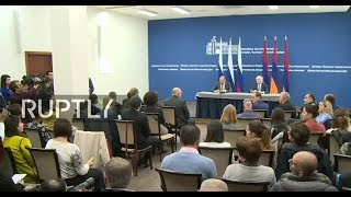 LIVE  Sergei Lavrov and Armenian FM Nalbandian hold joint press conference