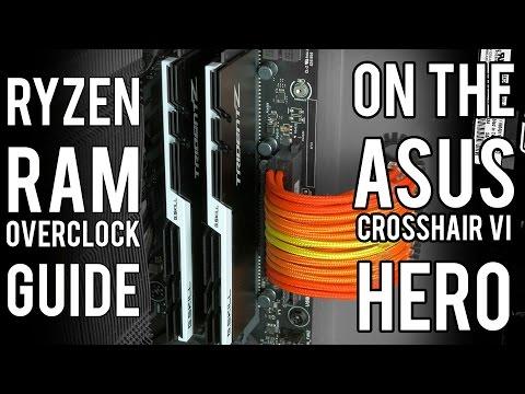 Getting faster RAM working on Ryzen + ASUS Crosshair 6 Hero