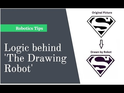 Logic behind Drawing Robot | How to make a robot which draws picture | Robotics Tricks