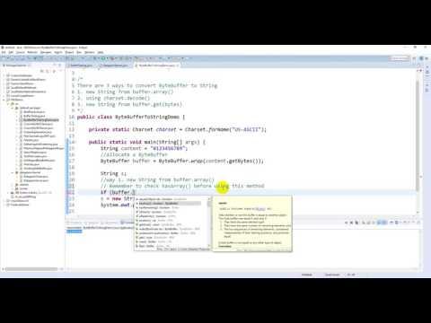 Java NIO - ByteBuffer To String Demo