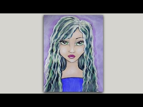 Mixed Media Face - Speed Painting -