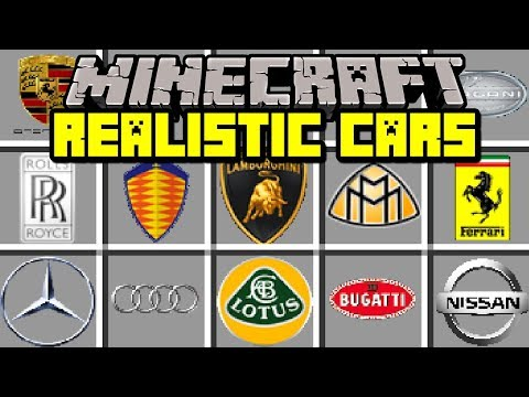 Minecraft REALISTIC CARS MOD! | DRIVE AROUND GTA 5 CARS IN MINECRAFT! | Modded Mini-Game