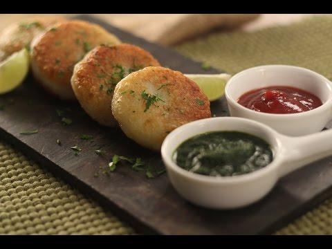Green Peas Stuffed Aloo Tikki | Sanjeev Kapoor Khazana