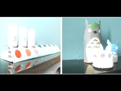 How to reuse toilet/paper towel rolls - Easy ways to make art | LittleMo