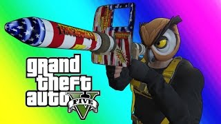GTA 5 Online Funny Moments - Floating RPG & Batcoon Dumpster Company!