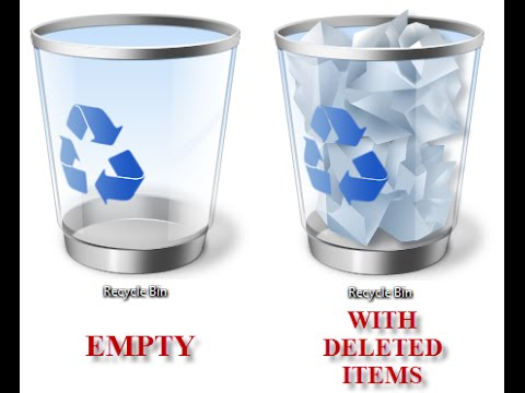 How to setting recycle bin to delete files permanently