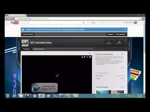 How To Switch Back To The Old 2012 YouTube Channel Layout From The 2013 YouTube Channel Layout.[HD]