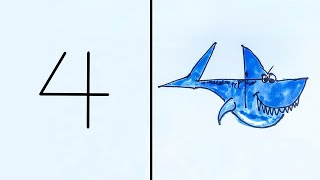 HOW TO TURN NUMBERS INTO CARTOON ANIMALS!