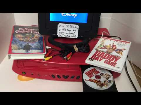 DISNEY MICKEY MOUSE DVD2100-C DVD/VHS VCR Recorder Combo Player + Remote WORKS