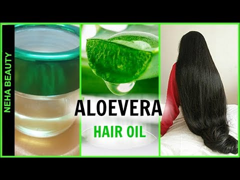 Aloevera hair oil to get long ,strong, shiny, thick hair at home in 2 weeks| Neha Beauty