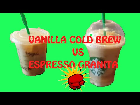 Starbucks Review Vanilla Sweet Cream Cold Brew vs Caramel Espresso Granita (ft. Canoopsy)