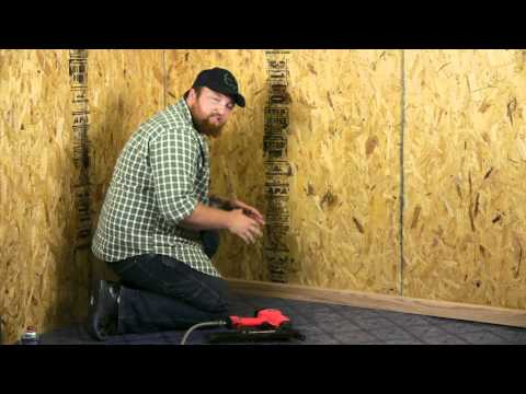How to Install Vinyl Flooring Without Adhesives : Flooring Projects