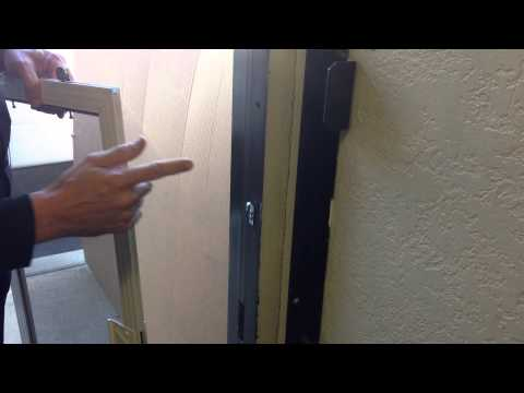 Mobile Screen Service sliding screen door strike and latch fix