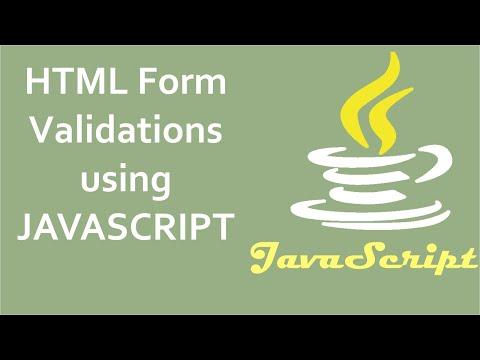 JavaScript Form Validation Tutor   6   Email Validation In Javascript