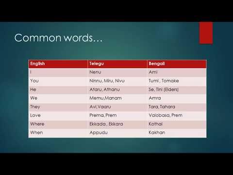 Telugu to Bengali Learning Bengali to Telugu Learning English to Telugu English to Bengali Learning
