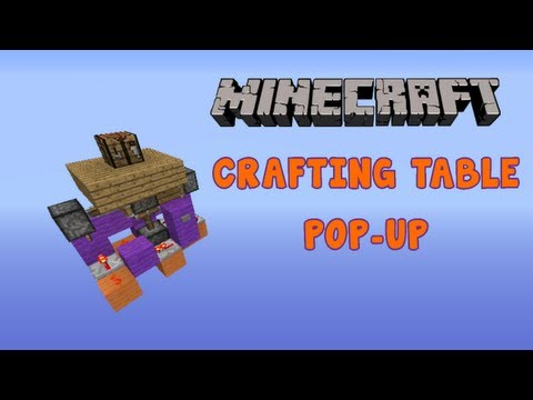 Minecraft Hidden Crafting Table Pop-up [How To]
