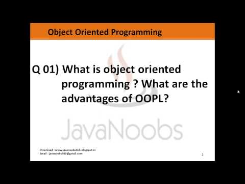 Object Oriented Programming - Q 01) What is oop what are the concepts in it ?