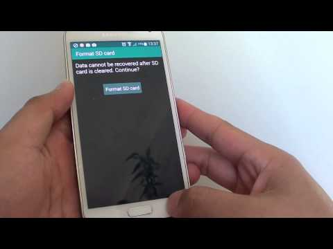 Samsung Galaxy S5: Finding the Require Password When Formatting the SD Card