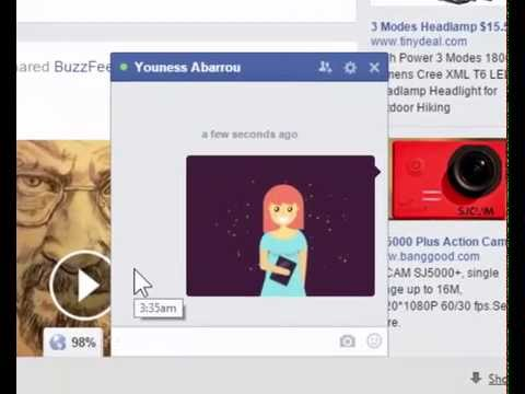 Facebook Supports Send animated Gifs to Your Friends in Chat