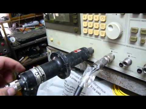 Measure unknown rf power attenuator