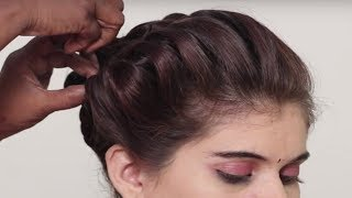 Easy Quick Braided Hairstyle for Party/Wedding/Function    Hair Style Girl    Different Hairstyles