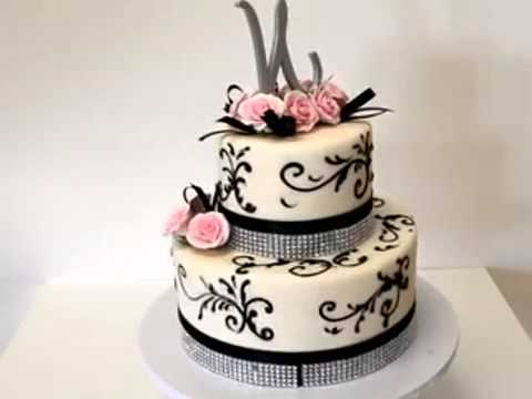 How to make cake Two Tier Beatiful Wedding Cake