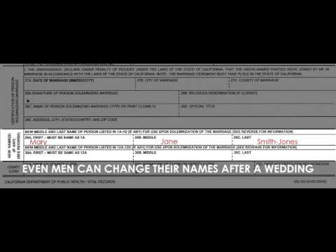 Changing Your Name After Marriage in California - Wedding License