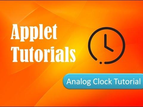 HOW TO MAKE Analog Clock in Applet- Applet Tutorials